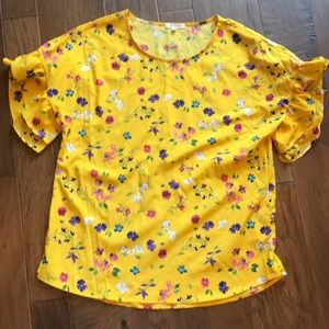 Pleione Floral Yellow Blouse